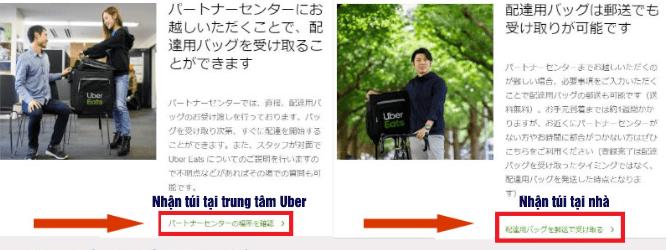 nhận túi uber eats