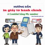 cách in giấy tờ hành chính ở combini
