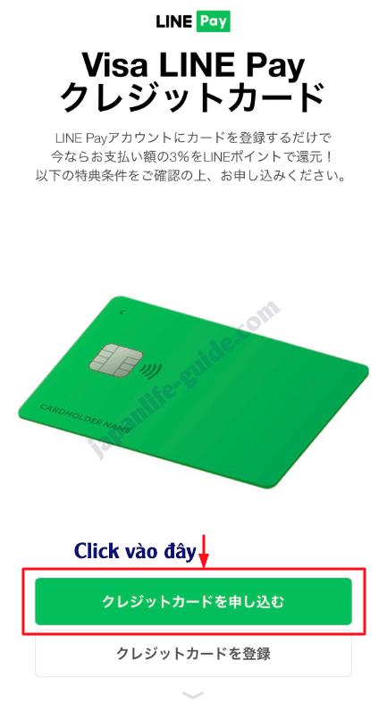 Đăng ký thẻ tín dụng VISA LINE