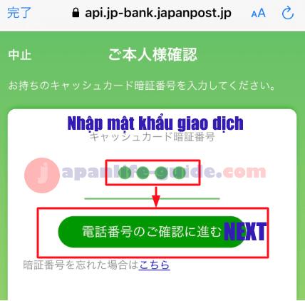 đăng ký kiểm tra tài khoản yucho