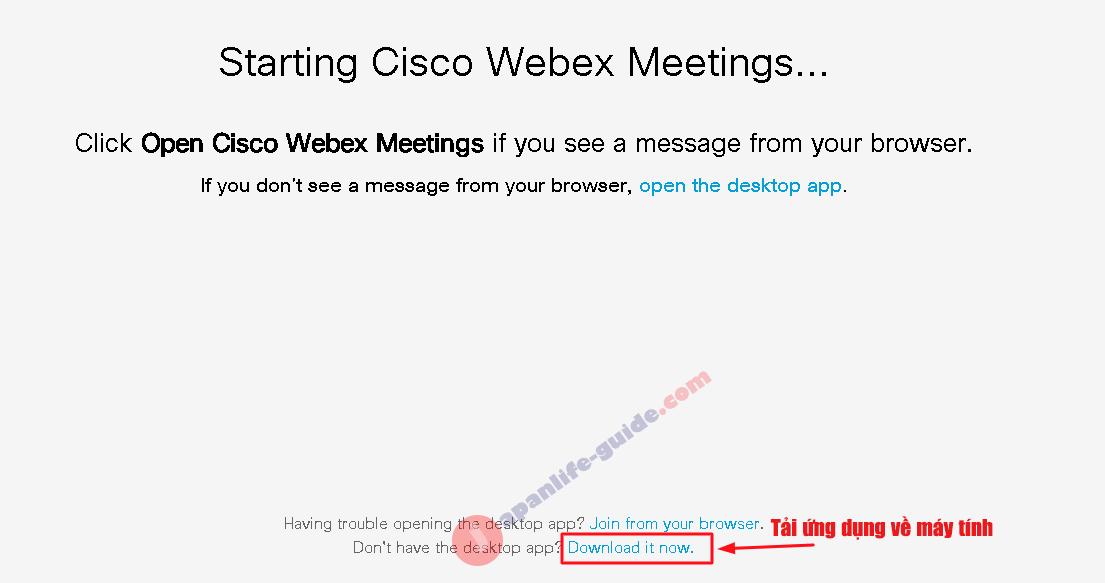 cách tạo phòng họp trên cisco webex