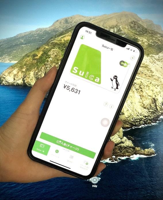 nạp tiền vào suica trên iphone