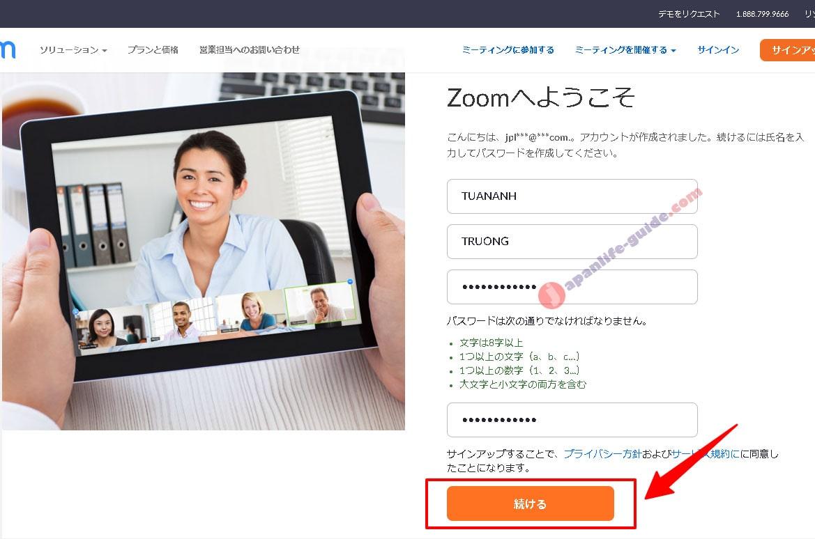 đăng ký tài khoản zoom ở nhật