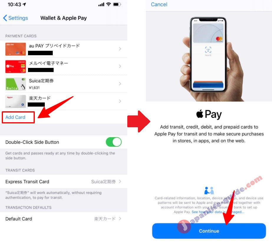cách thêm thẻ vào apple pay