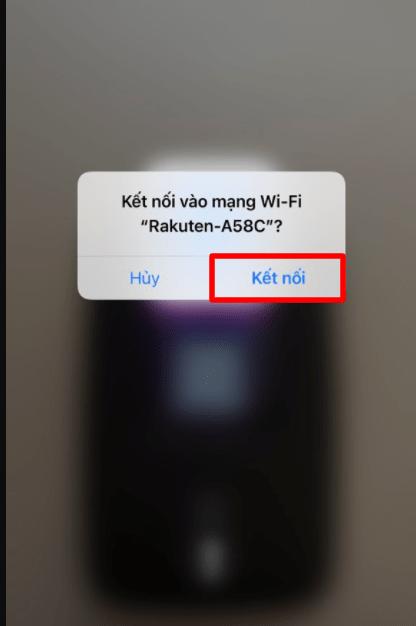 kết nối wifi bằng mã qr