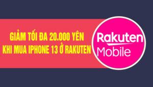 mua iphone 13 tại rakuten mobile