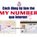 đăng ký làm thẻ my number online